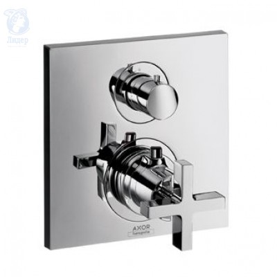 Смеситель Axor Citterio 39705000 с запорным вентилем, термостат