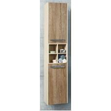 Мебель Акватон Блент шкаф-колонна подвесная, крем/дуб европ.
