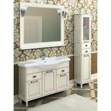 Мебель Акватон Жерона 105 тумба-умывальник, бел. серебро