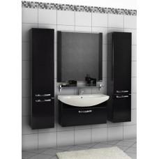 Мебель Акватон Ария 80 тумба-умывальник, черная