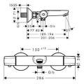 Термостатический смеситель HG Ecostat E 13145000 для ванны изображение 1