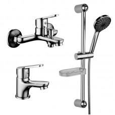 Смесители Lemark Set LM7301C для ванной комплект 3в1