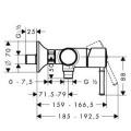 Смеситель Hansgrohe Talis Classic 14161000 для душа изображение 1