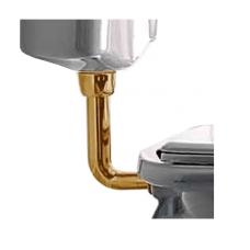 Труба Kerasan 750493 низкая для бачка, бронза