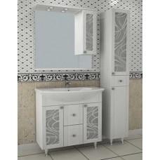 АСБ-Мебель Альфа кристалл 80 подстолье, зеркало