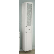 АСБ-Мебель Альфа кристалл 30 шкаф-колонна правая, с кристаллами Svarovski