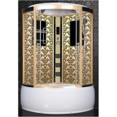 Душевая кабина Niagara 7744G (B,W,P) золото (черный, белый, new)