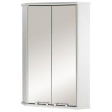 Зеркальный угловой шкаф Акватон Призма 2М двустворчатый, белый